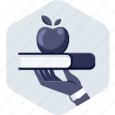 book, education, graduate, knowledge, learning, study icon
