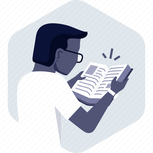 book, knowledge, learning, library, reading, student icon