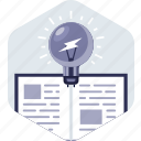 book, education, idea, knowledge, reading, study icon