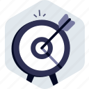 achievement, archery, dartboard, goal, success, target icon