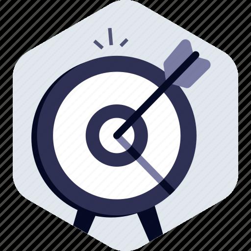 Archery, dartboard, goal, achievement, target, success icon