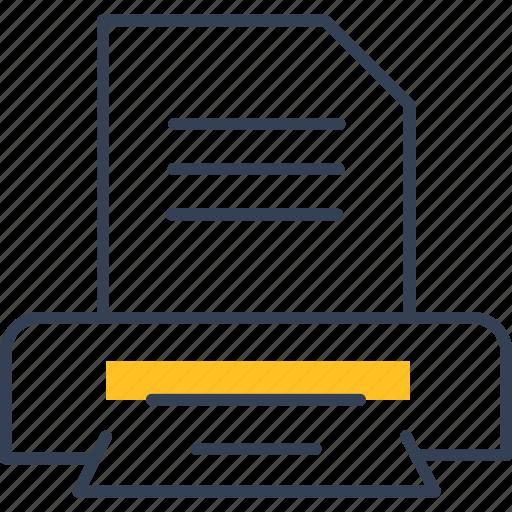 document, printer, study, text icon
