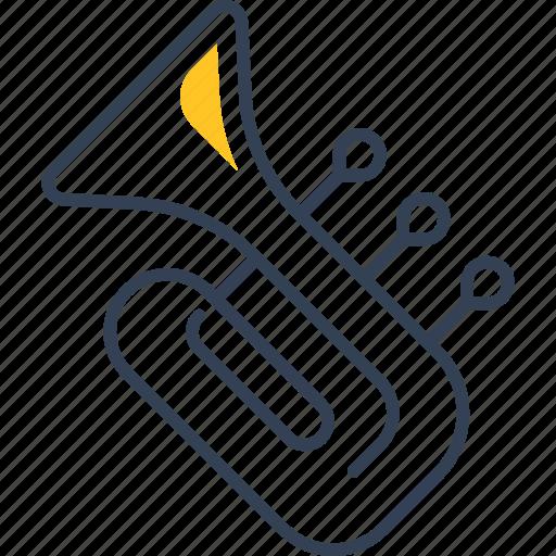 music, sing, study, trumpet icon