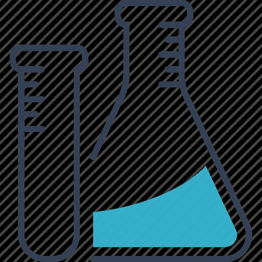 chemistry, flask, study, tube icon
