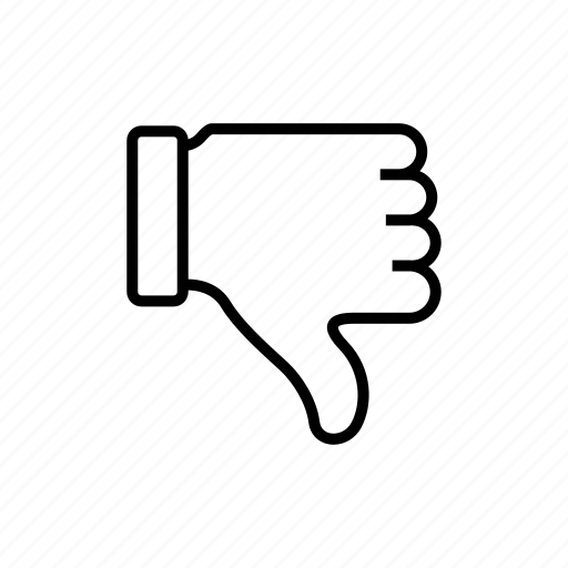 hand, lose, unlike, vote icon