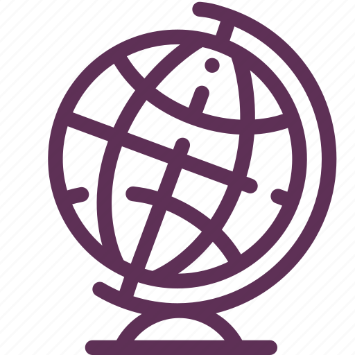 eartth, globe, school icon