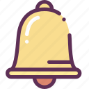 bell, lesson, study icon