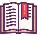 book, learning, reading icon
