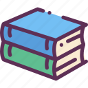 books, reading, study icon