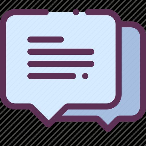 comments, communication, dialogue icon