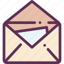 delivery, letter, mail, parcel, success icon