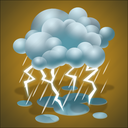 forecast, lightning, rain, thunder, thunderstorm, weather icon