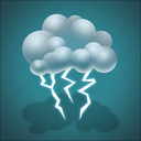 forecast, light thunderstorm, lightning, thunder, weather icon