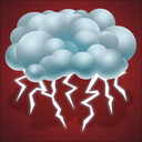 forecast, lightning, thunder, thunderstorm, weather icon