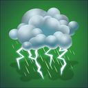 drizzle, forecast, lightning, thunderstorm, weather icon
