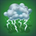 drizzle, forecast, lightning, thunderstorm, weather icon