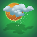 drizzle, forecast, light drizzle, sun, weather icon