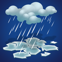 cold, forecast, freezing, rain, weather icon
