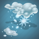 cold, forecast, snow, weather icon