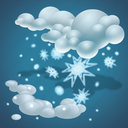 cold, forecast, moderate snow, snow, snowflakes, weather icon