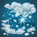 cold, forecast, heavy snow, snow, snow flakes, snow storm, weather icon