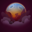 forecast, moon, night, smoke, weather icon