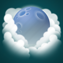 fog, forecast, moon, night, weather icon
