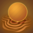 day, forecast, sand, sun, weather icon