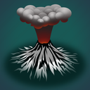 ash, forecast, volcano, weather icon
