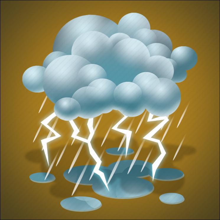 forecast, lightning, rain, thunder, thunderstorm, weather icon
