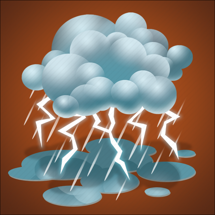 forecast, heavy rain, lightning, rain, thunder, thunderstorm, weather icon