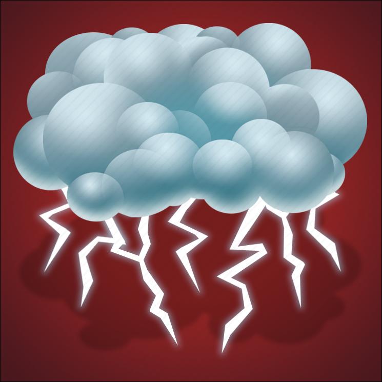 forecast, lightning, thunder, thunderstorm, weather icon