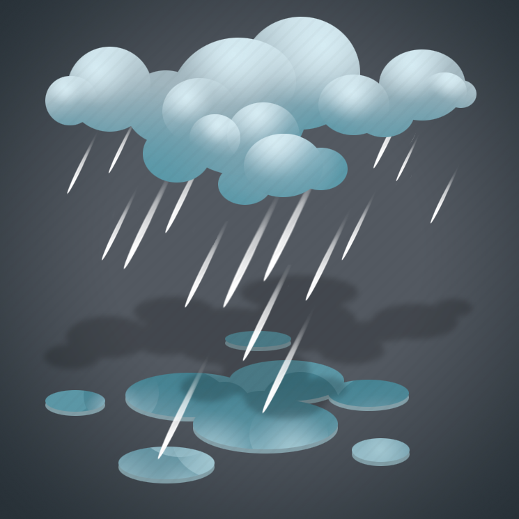 forecast, moderate rain, rain, weather icon