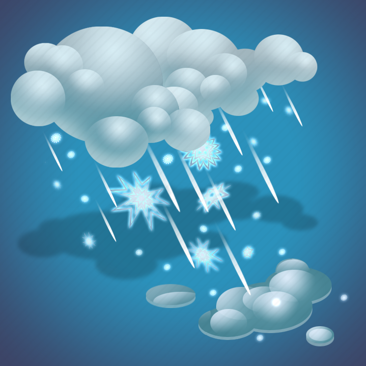 clouds, forecast, rain, rain and snow, snow, weather icon