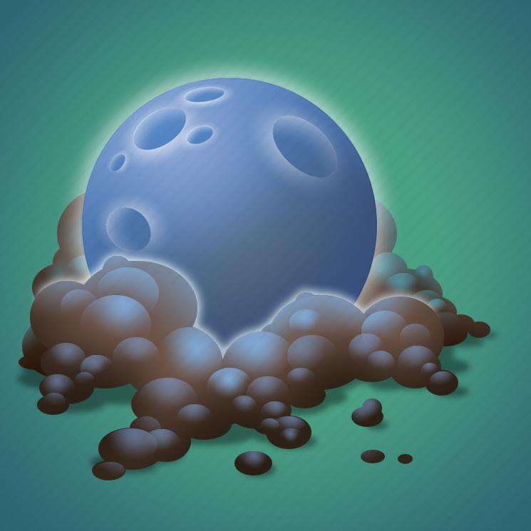 dust, forecast, moon, night, weather icon