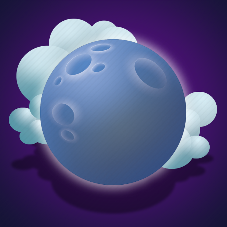 clouds, few clouds, forecast, moon, night, weather icon
