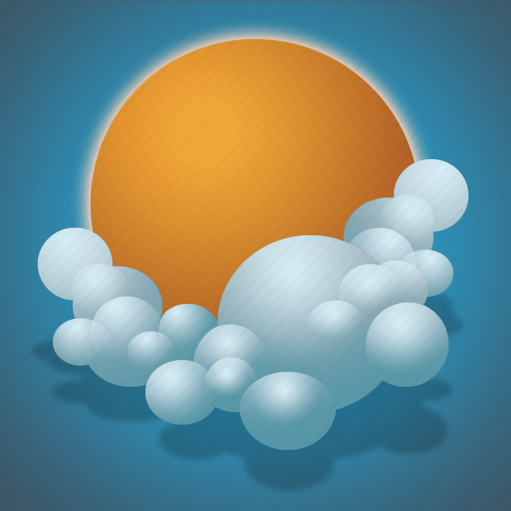clouds, forecast, scattered clouds, sun, weather icon