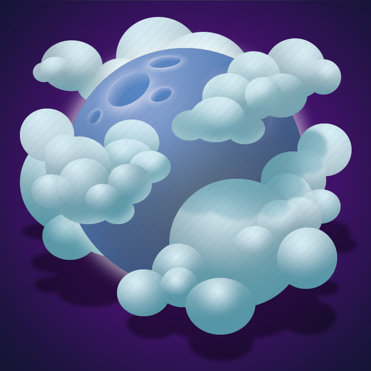 broken clouds, clouds, forecast, night, weather icon