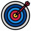 arrow, darts, target icon