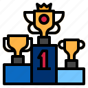 goal, podium, throphy, winners icon