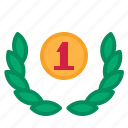 award, laurelwreath, medal icon