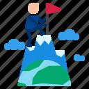 flag, mountain, peak icon