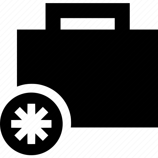 asterisk, briefcase, business, portfolio, suitcase icon