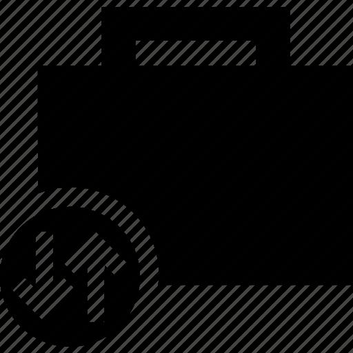 briefcase, business, portfolio, suitcase, transfer icon