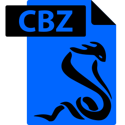 cbz, comic book, file, format, sumatrapdf icon
