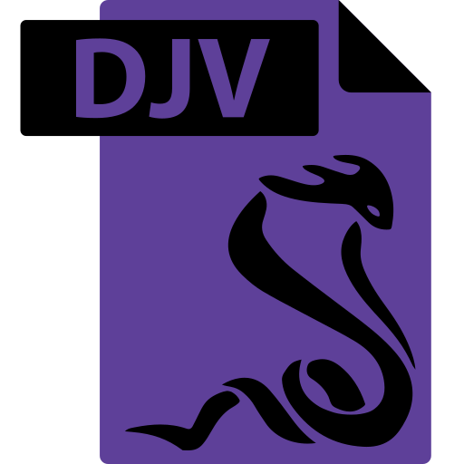 djv, ebook, file, format, sumatrapdf icon