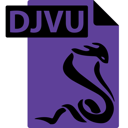 djvu, ebook, file, format, sumatrapdf icon