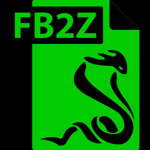 fb2z, fictionbook, file, format, sumatrapdf icon