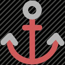anchor, boat anchor, nautical, navigational, sea, ship anchor icon