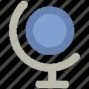 desk globe, desktop globe, globe, office supplies, table globe, world map icon
